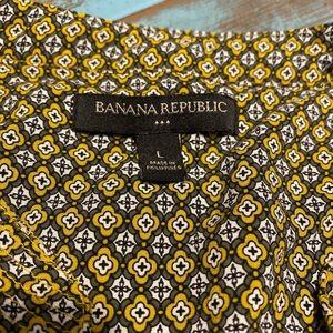 Banana Rupublic sleeveless top fall colors
